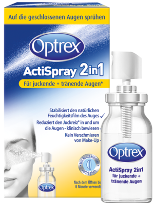 Optrex ActiSpray 2in1 für juckende und tränende Augen (PZN 11307701)