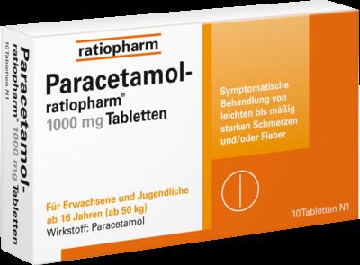 Paracetamol ratiopharm 1.000mg (PZN 09263936)