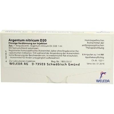 Argentum Nitricum D 20 Amp. (PZN 01618162)