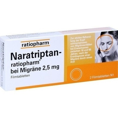 Naratriptan ratiopharm bei Migräne (PZN 09321616)
