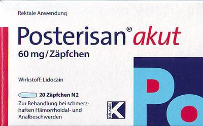 Posterisan Akut Zäpfchen Online Kaufen Apoviade