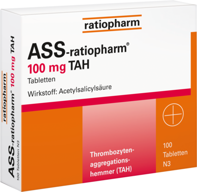 Ass ratiopharm 100 mg TAH (PZN 01343682)
