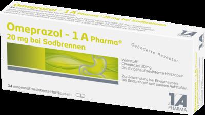 Omeprazol 1a Pharma 20 mg bei Sodbrennen msr.Kaps. (PZN 06439524)