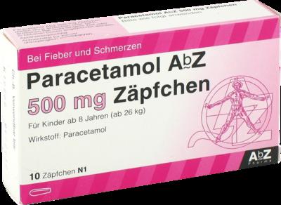 Paracetamol Abz 500 Mg Zaepfchen (PZN 02058831)