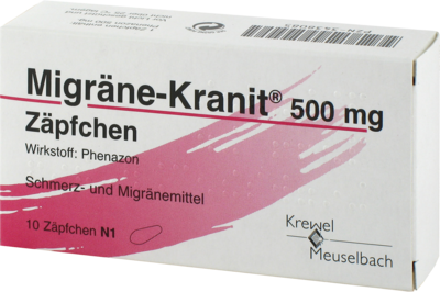 Migraene Kranit 500 Mg Zaepfchen (PZN 03438085)