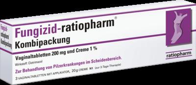 Fungizid-ratiopharm Kombipackung 3 Vaginaltabletten + 20g (PZN 03435566)