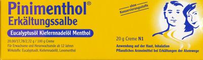 Pinimenthol Erkältungs  mit Eucalyptusöl Kiefernadelöl Menthol (PZN 03745284)