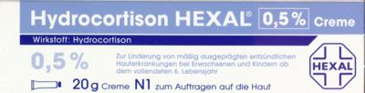 Hydrocortison Hexal 0.5% Creme, 20 g (PZN 02756647)