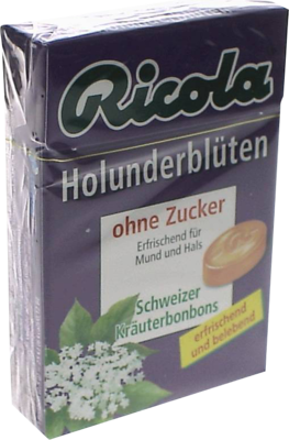 Ricola Ohne Zucker Box Holunderblüten Bonbons (PZN 02258458)