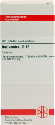 NUX VOMICA D 12, 200 St (PZN 02812529)