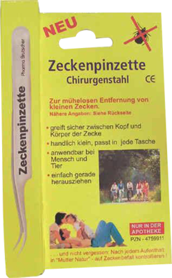 Zeckenpinzette Chirurgenstahl (PZN 04759911)