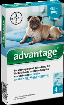 Advantage 100 F. Hunde Einzeldosispip. (PZN 08613311)