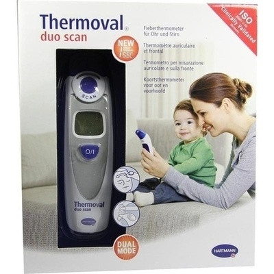 Thermoval Duo Scan Fieberthermometer F.ohr+stirn (PZN 08804927)
