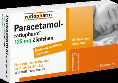 Paracetamol-ratiopharm 125mg Zäpfchen für Säuglinge (PZN 03953580)