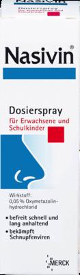 Nasivin für Erwachsene und Schulkinder Nasendosierspray 0,05% 10ml (PZN 02362368)