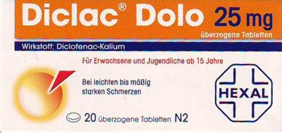 Diclac Dolo 25 Mg (PZN 01235521)
