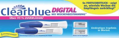 Clearblue Digital Schwangerschaftstest mit Wochenbestimmung 2 Stück (PZN 01107881)