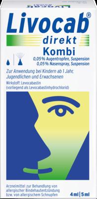 Livocab Direkt Kombi 4 Ml Augentr.+5 Ml Nasenspray (PZN 00676789)