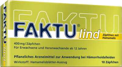 Faktu Lind Zäpfchen mit Hamamelis (PZN 07798768)