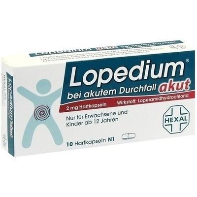 Lopedium Akut bei Akutem Durchfall Hart (PZN 01939446)