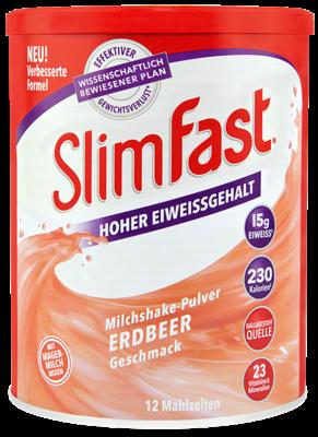 SlimFast Milchshake-Pulver Erdbeere (PZN 11280758)