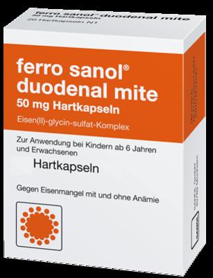 Ferro Sanol Duo Mite 50mg Magens.r.pel.i.kps. (PZN 00940884)
