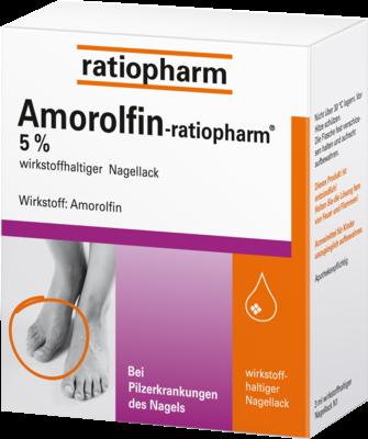 Amorolfin Ratiopharm 5% Wirkstoffhaltig.nagellack (PZN 09199196)