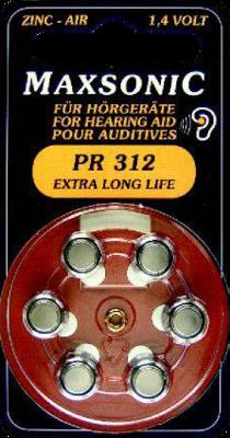 Batterien F.hoergeraete Maxsonic Pr312 (PZN 02195924)