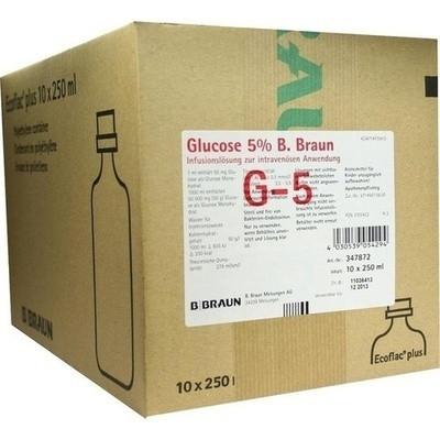 Glucose 5% B.braun Ecoflac Plus (PZN 03705422)