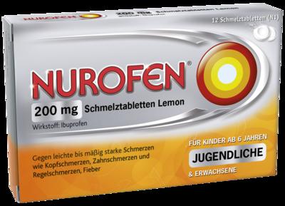 Nurofen 200 Mg Schmelztabletten Lemon (PZN 02547582)