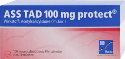 Ass Tad 100 mg protect magensaftres. (PZN 03828202)