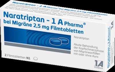 Naratriptan 1a Pharma bei Migräne 2,5mg (PZN 09322478)