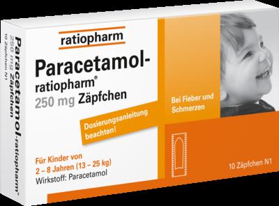 Paracetamol ratiopharm 250 mg Kleinkdr.-Suppos. (PZN 03953597)