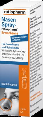 Nasenspray Ratiopharm Erwachsene Kons.frei (PZN 00999848)