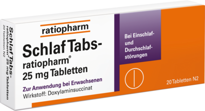 Schlaf Tabs Ratiopharm 25mg (PZN 07707524)