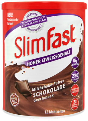SlimFast Milchshake-Pulver Schokolade (PZN 11280706)