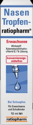 Nasentropfen Ratiopharm Erwachsene (PZN 05006585)