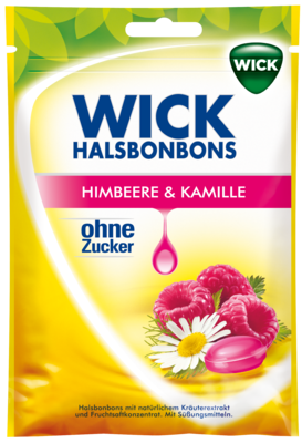 Wick Himbeere & Kamille Bonbons O.zucker (PZN 00015912)