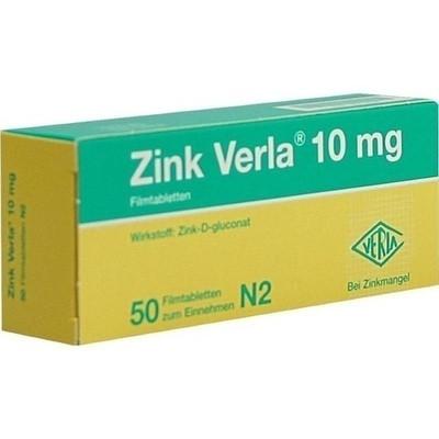 Zink Verla 10mg (PZN 08912189)