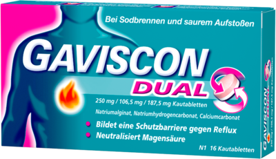 Gaviscon Dual 250mg/106,5mg/187,5mg (PZN 04363716)
