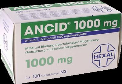 Ancid 1000 Mg Kautabl. (PZN 00838298)