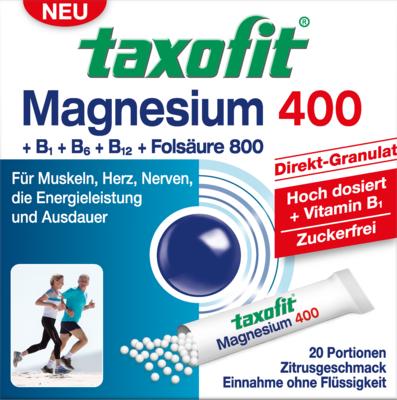 Taxofit Magnesium 400+b1+b6+b12+folsäure 800 Gran. (PZN 02597700)
