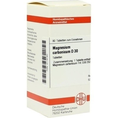 MAGNESIUM CARB D30, 80 St (PZN 02118160)