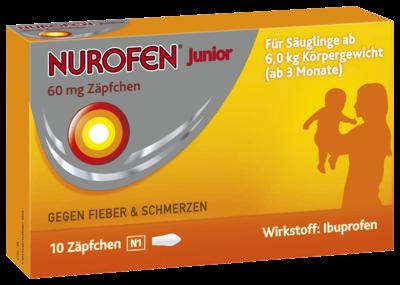 Nurofen Junior Zaepfchen 60mg (PZN 04085246)