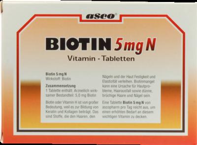 Biotin 5 Mg N (PZN 02472163)