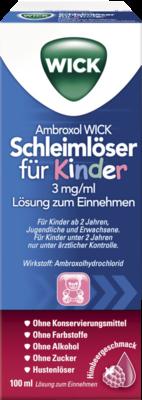 Ambroxol Wick Schleimlöser F.kind.3mg/ml L.z.einn. (PZN 10299744)