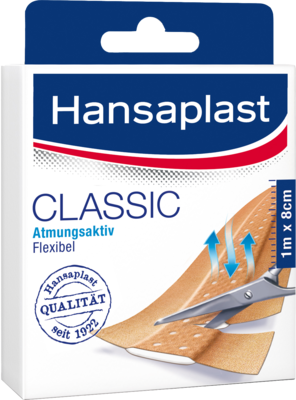 Hansaplast Classic Pflaster 1mx8cm 1273 (PZN 07347238)