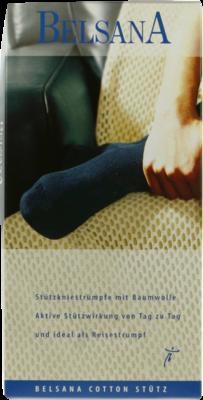 Belsana Cotton Stuetz Kniestr.4 Schwarz M.baumw. (PZN 04769312)