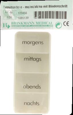 Tablettendose Mo/mi/ab/na M.blindenschrift (PZN 01085139)