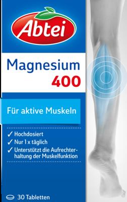 Abtei Magnesium 400 Tabl. (PZN 00272158)